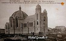 Sacré Coeur Avignon . Cartes postales anciennes. Michel Gromelle. Avignon la cité mariale.