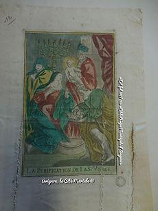 Estampe - Purification de la Sainte Vierge - Bibliothèque Municipale d'Avignon - Avignon, la cité mariale