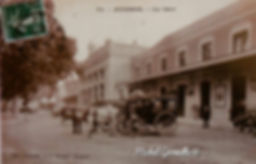 La gare Avignon. Cartes postales anciennes. Michel Gromelle. Avignon la cité mariale.