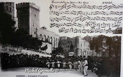 arandole Géante au  Palais des Papes Avignon. Cartes postales anciennes. Michel Gromelle. Avignon la cité mariale.