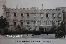 Ancien petit séminaire .Musée du Petit Palais Avignon . Cartes postales anciennes. Michel Gromelle. Avignon la cité mariale.