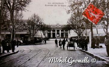 Avenue de la Gare  Avignon. Cartes postales anciennes. Michel Gromelle. Avignon la cité mariale.
