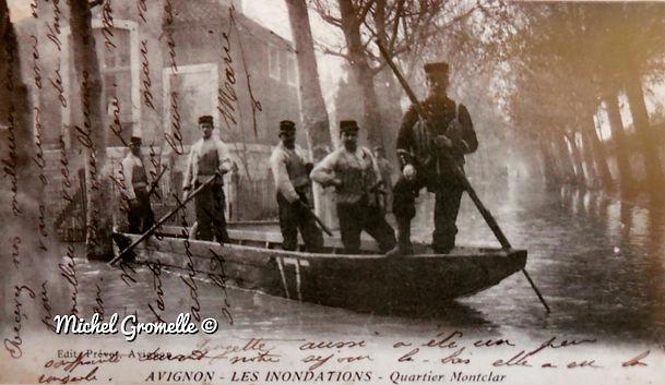 Inondations Montclar Avignon. Cartes postales anciennes. Michel Gromelle. Avignon la cité mariale.