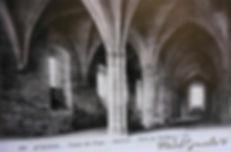 Palais des Papes Avignon vue intérieure. Cartes postales anciennes. Michel Gromelle. Avignon la cité mariale.