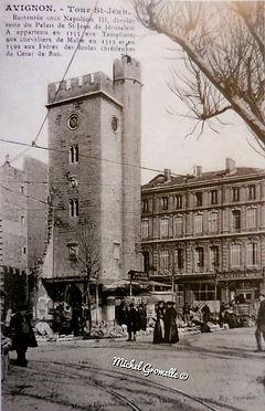 Place Pie Avignon. Cartes postales anciennes. Michel Gromelle. Avignon la cité mariale.