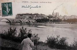 Pont d'Avignon Avignon. Cartes postales anciennes. Michel Gromelle. Avignon la cité mariale.