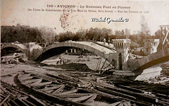 Nouveau Pont En Pierre  1908 Avignon. Cartes postales anciennes. Michel Gromelle. Avignon la cité mariale.