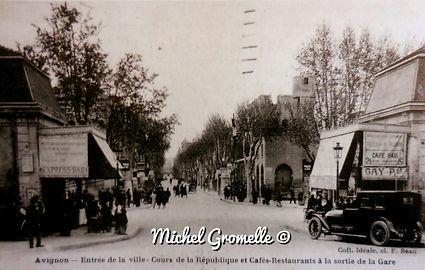 Avenue de la Gare Avignon. Cartes postales anciennes. Michel Gromelle. Avignon la cité maria