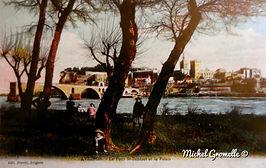 Pont d'Avignon  Avignon. Cartes postales anciennes. Michel Gromelle. Avignon la cité mariale