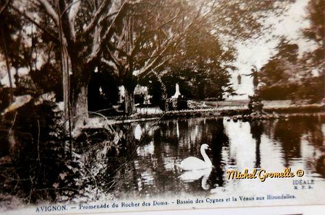 Rocher des Doms Avignon. Cartes postales anciennes. Michel Gromelle. Avignon la cité mariale.