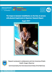 "Research ""The impact of physica rehabilitation on te lves of persons with physical impairments in Myanmarreport"