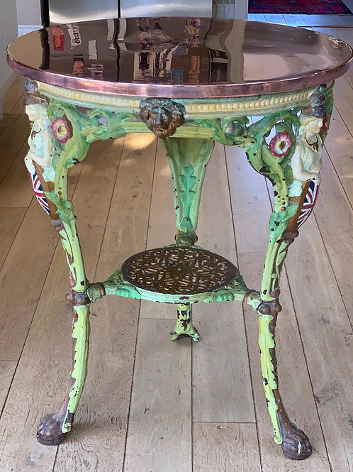 19th Century Copper Topped Pub Table