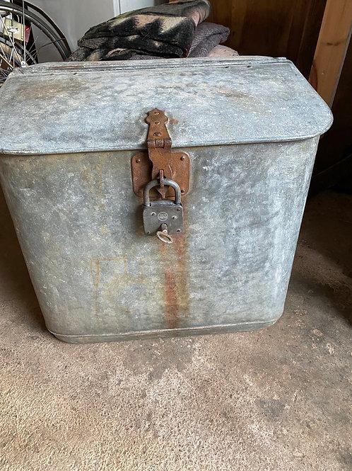 Galvanised feed bin