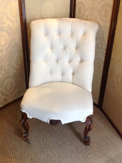 Victorian Button Back Bedroom Chair