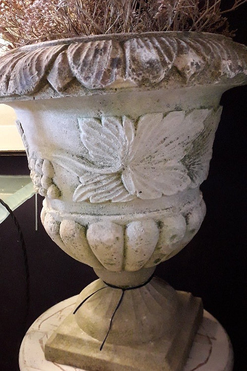 Pair of Victorian Hand Carved Natural Stone Urns