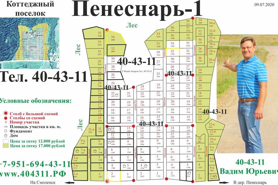 1 Коттеджный поселок Пенеснарь-1 980 Куп