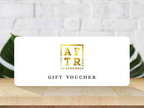 AFTR Events Gift vouchers