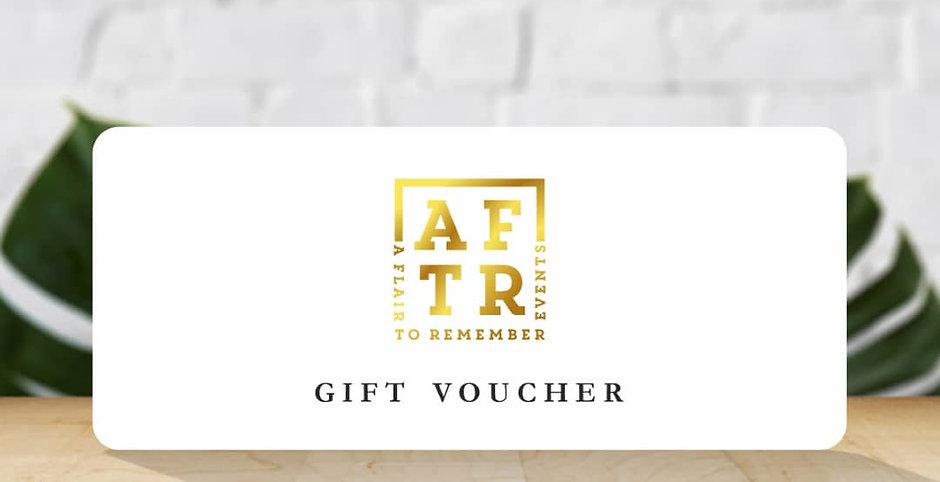 AFTR Events Gift vouchers