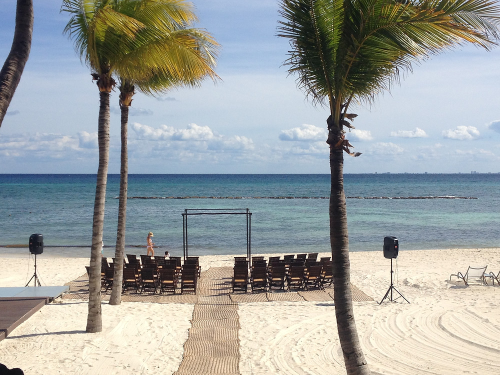 Wedding set-up at Grand Velas