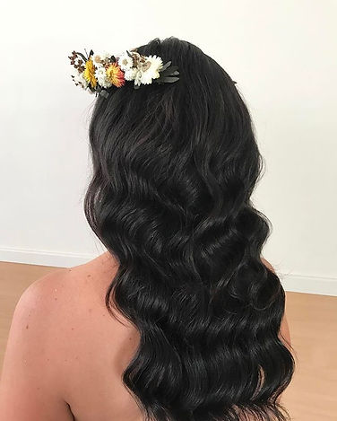 vintage waves wedding hair