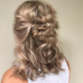 braid half up half down wedding hair