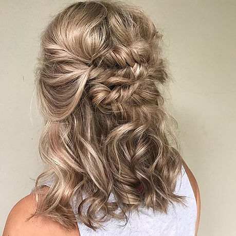 braid half up half down wedding hair