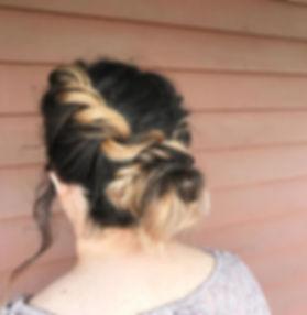 twisted low bun wedding hair
