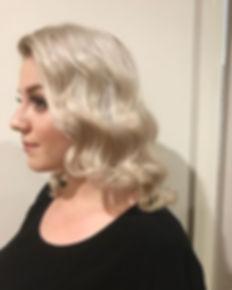 hollywood waves wedding hair