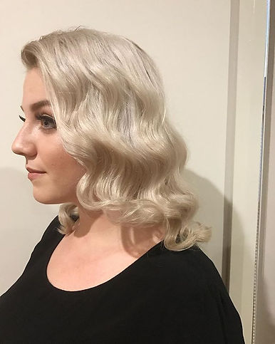 hollywood waves wedding hair