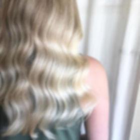 vintage waves wedding hair