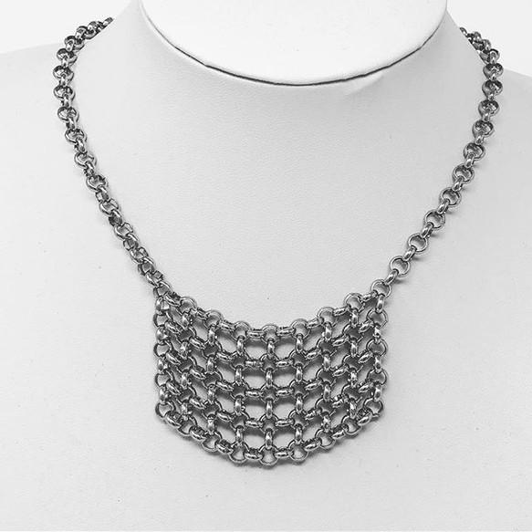 Steel drape necklace
