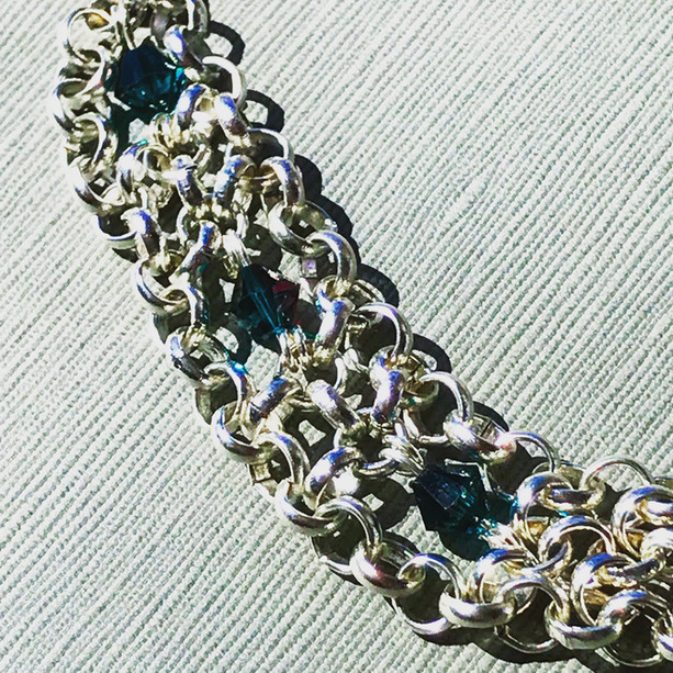 Iridescent jet Swarovski crystals