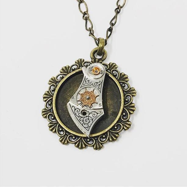 Steampunk dagger necklace