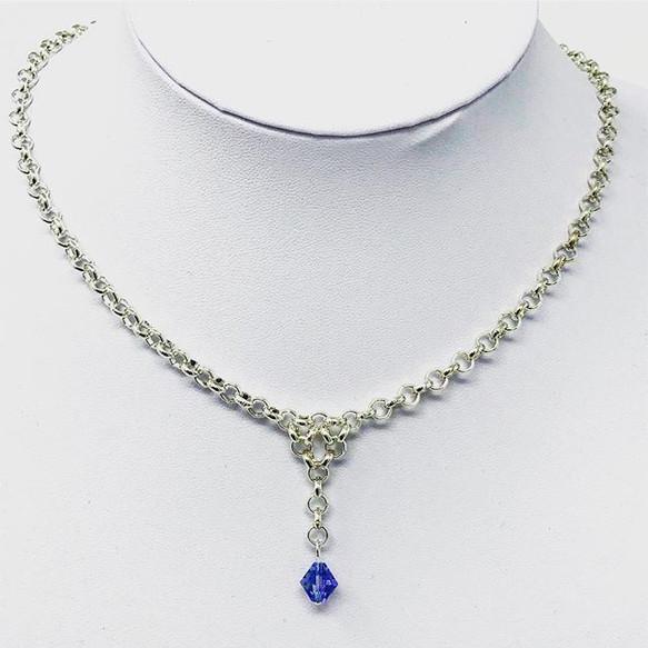 Fidget-friendly drop necklace