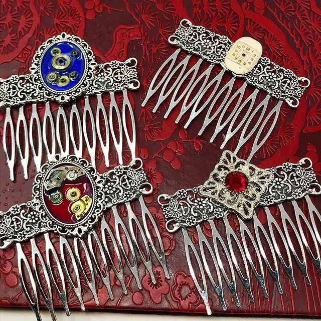 Steampunk hair combs