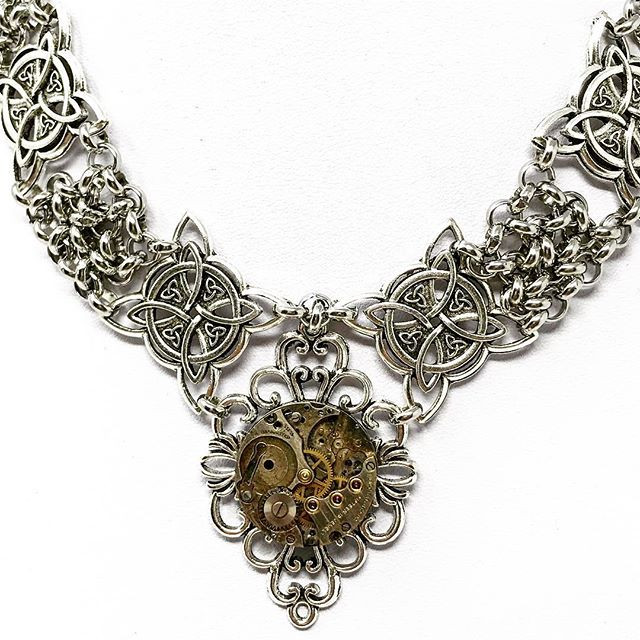 Detail of steampunk choker