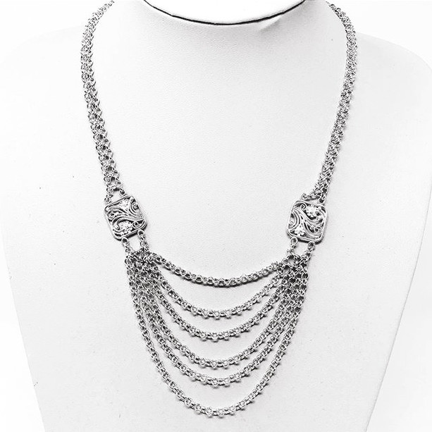 Etruscan drape necklace