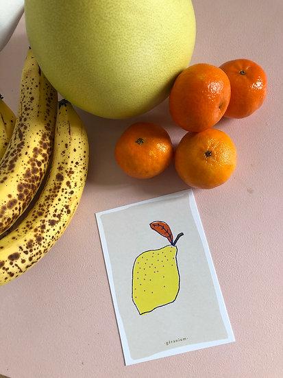 la carte le citron