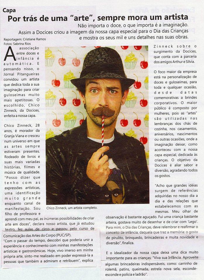 Matéria para o Jornal Pitangueiras