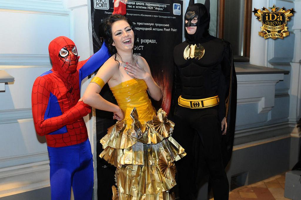 Человек паук и Бэтман