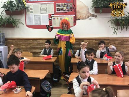 Клоун в школе