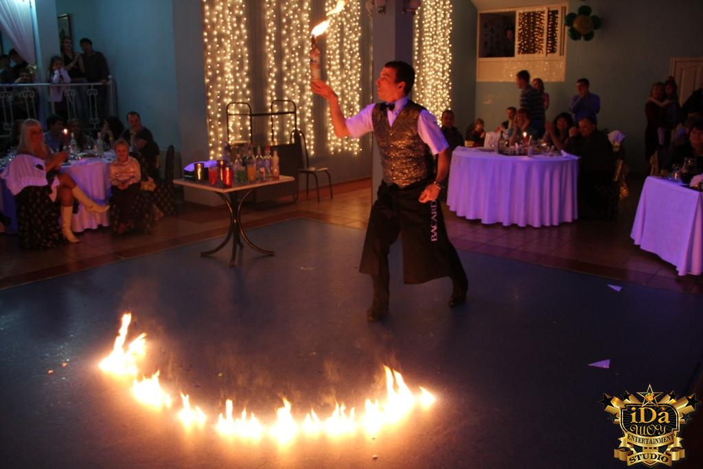 Бармен шоу с огоньком