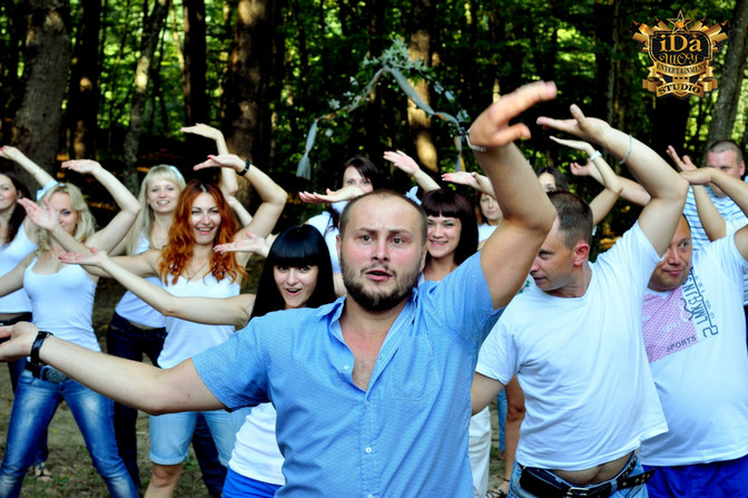 Тимбилдинг в лесу