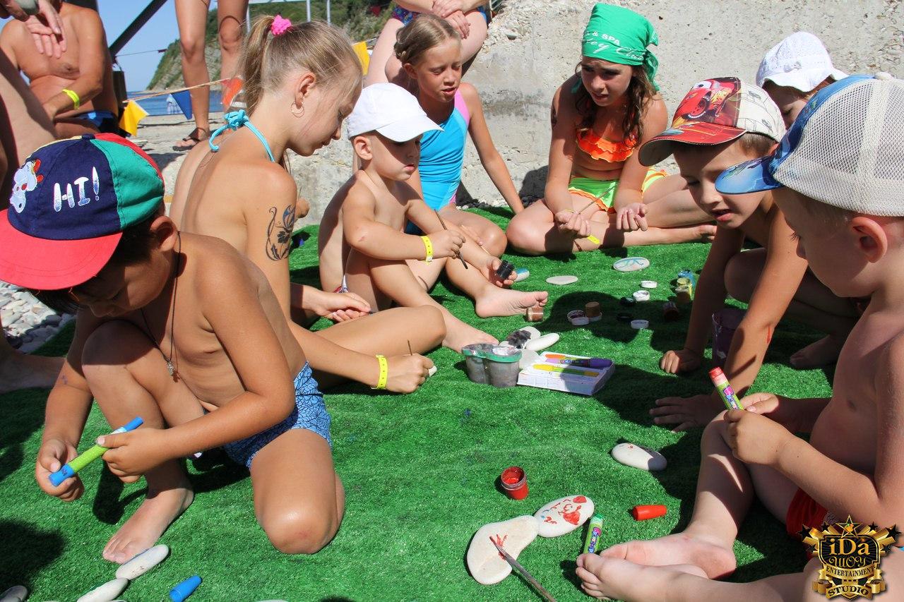 Детское активити на пляже
