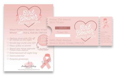 Girl Power Ladies Night Flyer, Ticket & Graphic Design