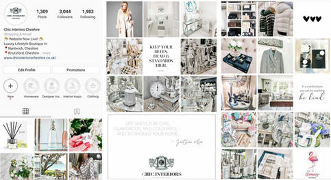 Chic Interiors Social Media Work
