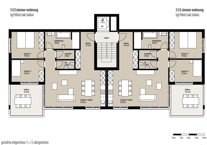 Erdgeschoss - 1.OG - 2.OG