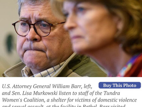US Attorney General Bill Barr Sends Message to Alaska, the Cabal Playground