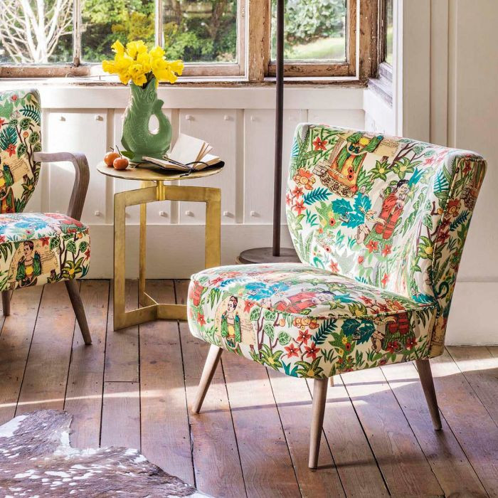 Mexican style print armchair