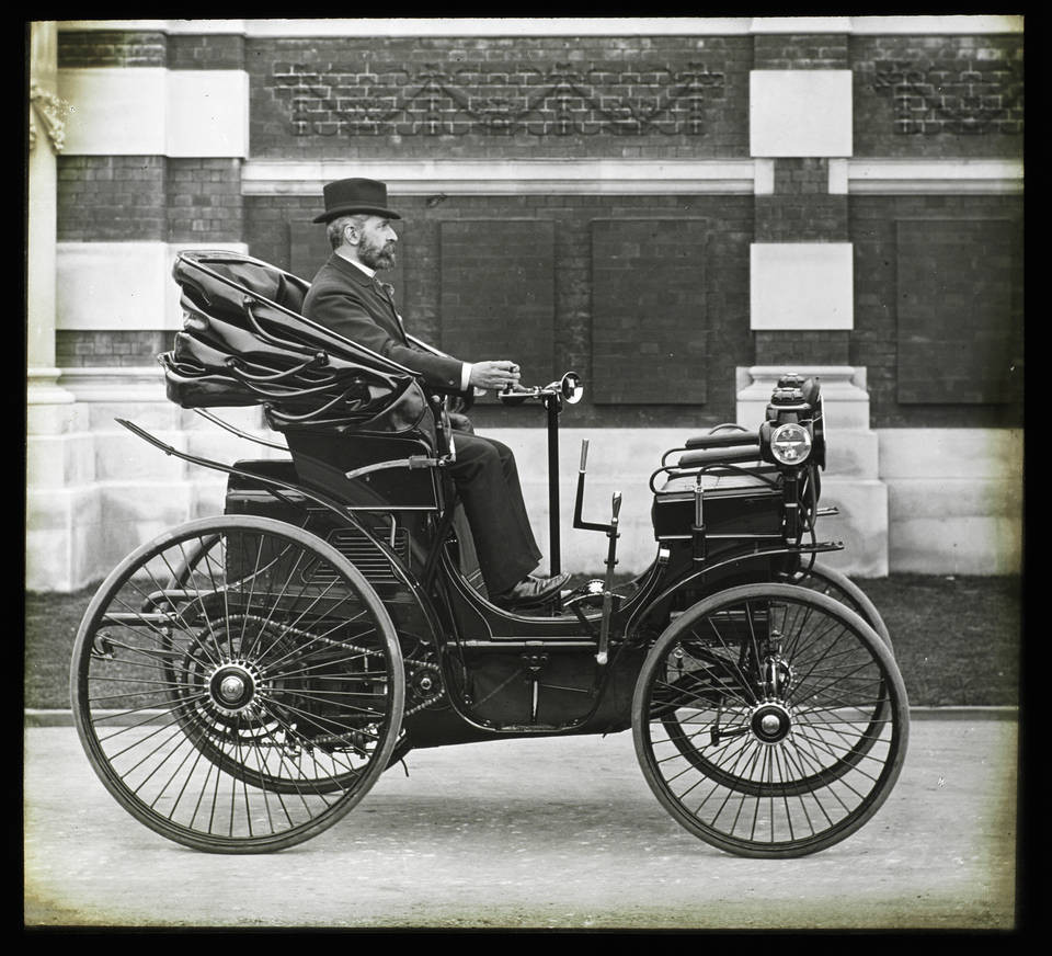 Sir David Salomons and his Peugeot Type 9, about 1895, England. Museum no. RPS.382-2019. © Victoria and Albert Museum, London